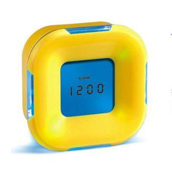"""Часы настольные """"Как ни крути"""" с подсветкой желтые"""