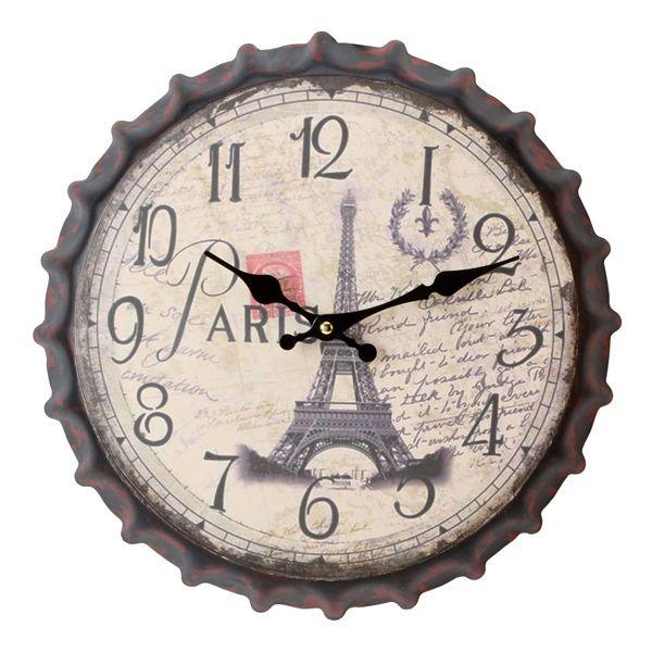 Настенные часы Париж дизайнерские старая пробка от бутылки