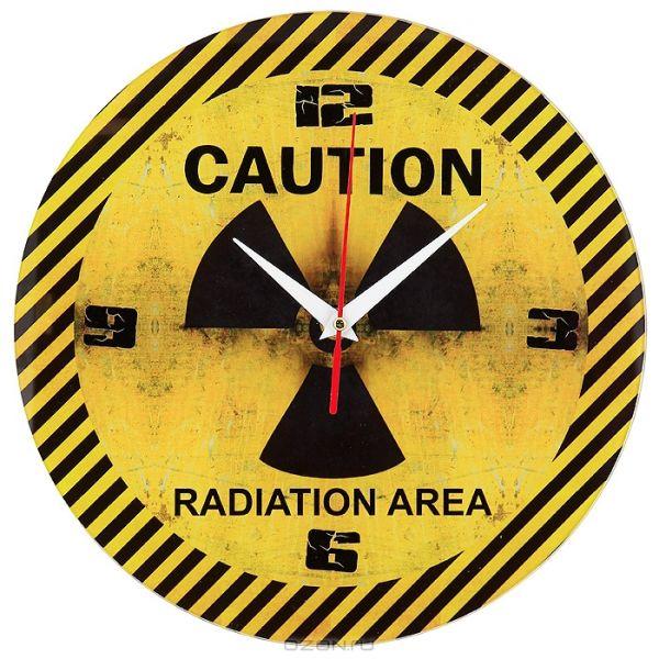 """Часы """"Caution"""" Стеклянные"""