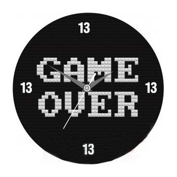 """Часы настенные """"Game Over"""" Стеклянные"""