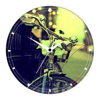 """Часы настенные """"Велосипед"""" стеклянные"""