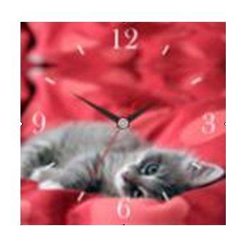"""Часы настенные """"Кот"""" стеклянные"""
