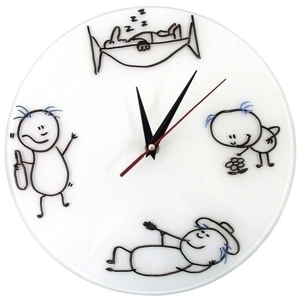 Часы настенные Нарисуй Сам Стеклянные + 3 маркера