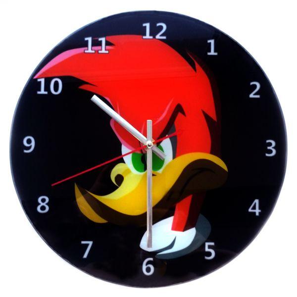"""Часы настенные """"Вуди Вудпеккер"""" стеклянные"""