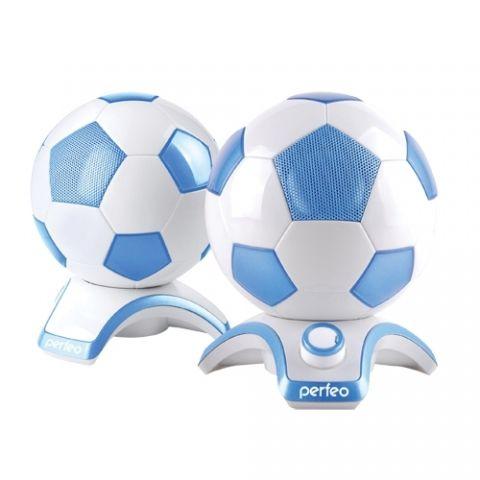"""Колонки """"Футбольные мячи"""" синие для компьютера или ноутбука"""