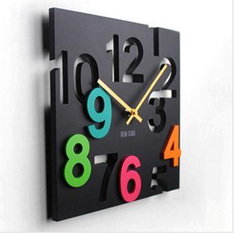 """Часы настенные """"Цветные"""" цифры"""