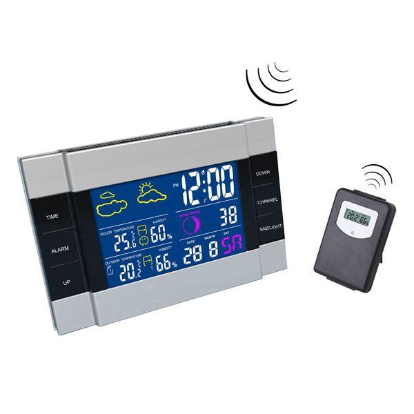 Домашняя метеостанция двухканальная с беспроводным  наружным wi-fi термометром