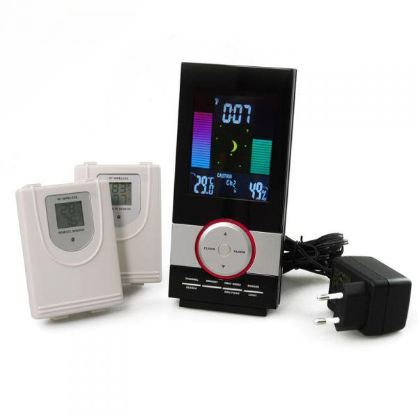 Метеостанция с двумя wi-fi беспроводными наружными датчиками и блоком питания
