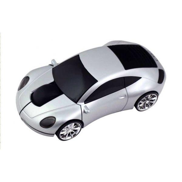 Мышь беспроводная «Porsche 911» оптическая серебристая машинка