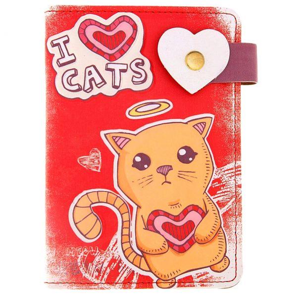 """Обложка для паспорта """"Я люблю котят"""""""