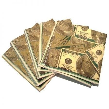 "Салфетки ""Доллары"" Квадрат 16х16 см"