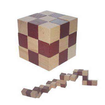 Головоломка-Кубик 5х5 см, черно-белая