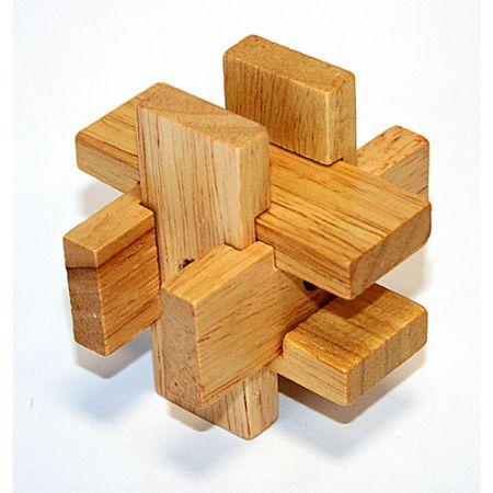 Головоломка деревянная в картонной коробке К25