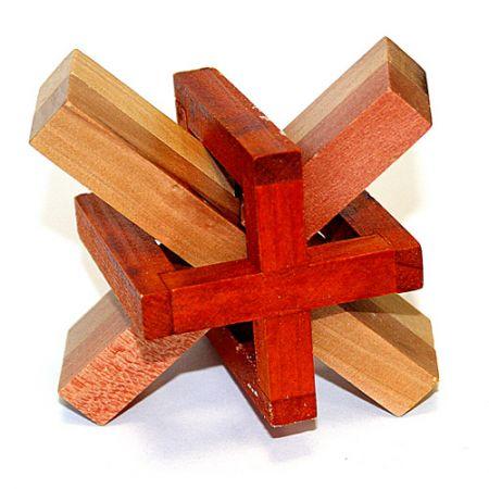 Головоломка деревянная в картонной коробке К30