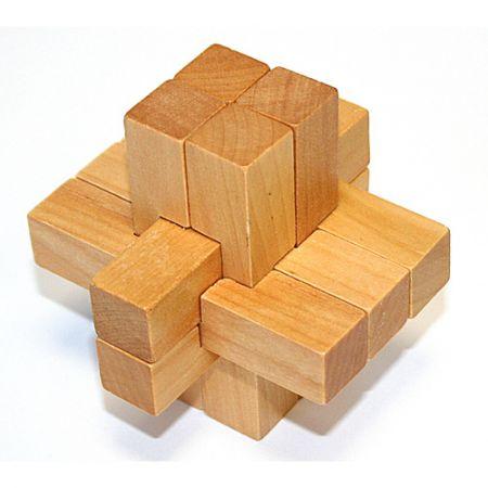 Головоломка деревянная в картонной коробке К42