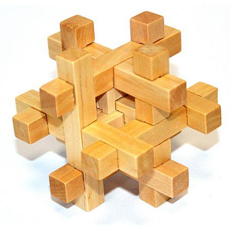 Головоломка деревянная в картонной коробке К43