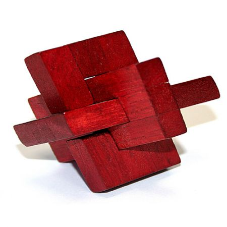 Головоломка деревянная в картонной коробке К46