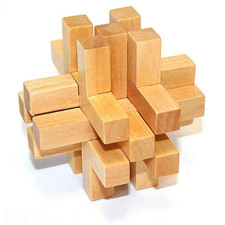 Головоломка деревянная в картонной коробке К48