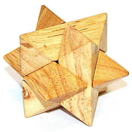 Головоломка деревянная в картонной коробке К54