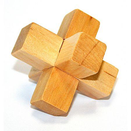 Головоломка деревянная в картонной коробке К55