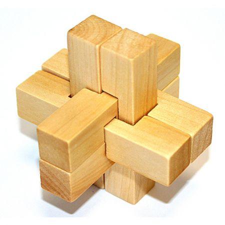 Головоломка деревянная в картонной коробке К56