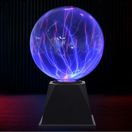 """Светильник """"Плазма шар"""" 20,5 см синие молнии"""