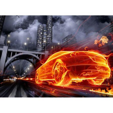 Обложка для автодокументов N 1 огненная машина