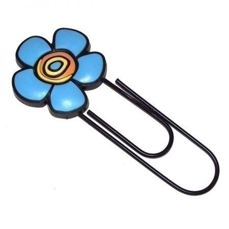 Закладка-скрепка Голубой цветок