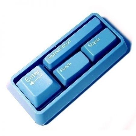 Канцелярский набор в виде клавиатуры голубой