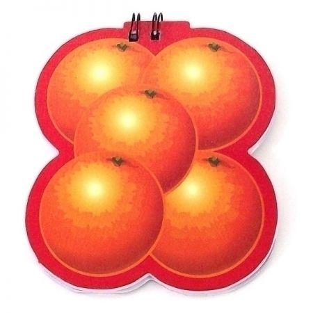 Блокнот в виде Фруктов N 1 апельсин