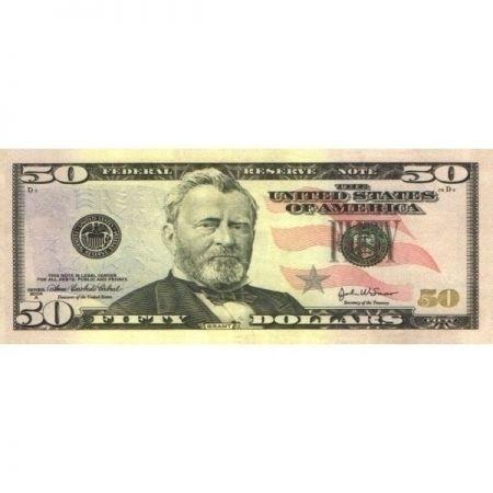 Наклейка 50 долларов 20шт в упаковке