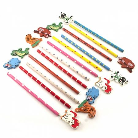 Набор карандашей на пружинке Звери 12шт в пакете