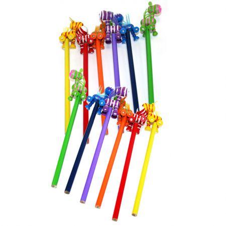 Набор карандашей на пружинке Зебры 12 шт в пакете