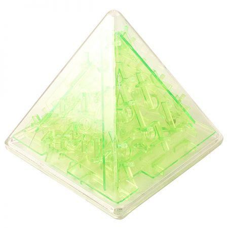Головоломка лабиринт Пирамида зеленая