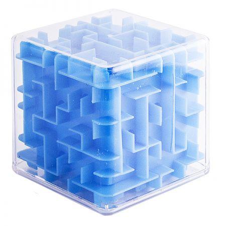 Головоломка лабиринт Куб синяя